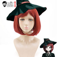 HSIU Yumeno Himiko Cosplay Wig NewDanganronpaV3 Costume Play Wigs Short Wine Red Women Wig Halloween Costumes