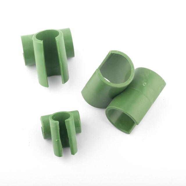 10pcs Cross Plastic Gardening Pillar Greenhouse Tray Bracket Fixed Clamp Garden Hose Pipe Clap 8mm 11mm 16mm 20mm