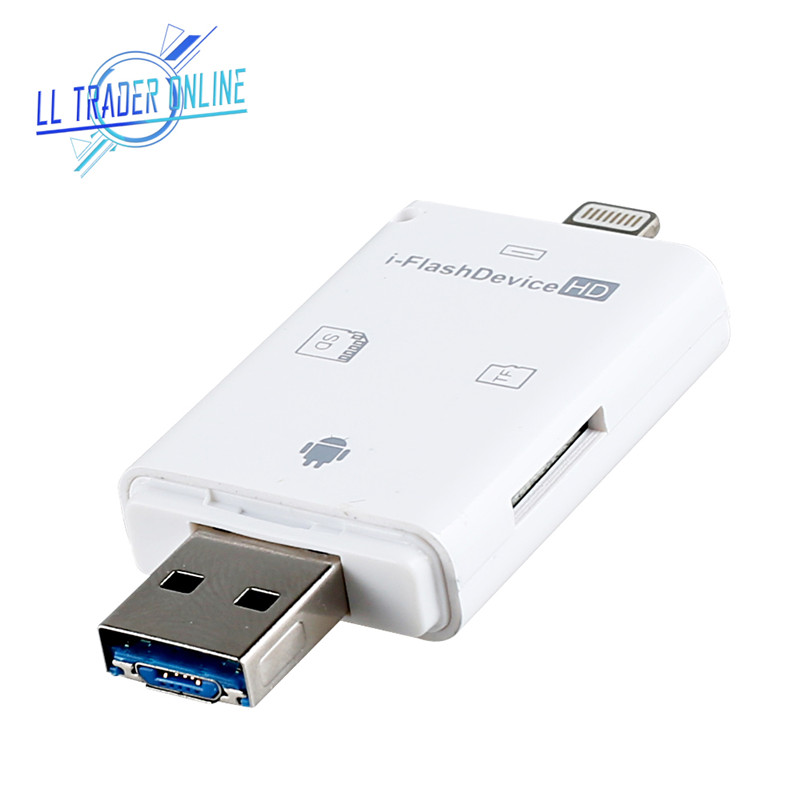 LL TRADER Micro SD Memory Card Reader USB 2.0 Adapter For IPhone 8/Andriod/PC Device Flash Drive OTG Multi-Card Reader Computer