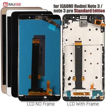 Display LCD + de Tela de Toque com moldura para Xiaomi Redmi Nota 3 Pro-Soft chave Backlight para Xiaomi Redmi nota 3 LCD Edição Padrão
