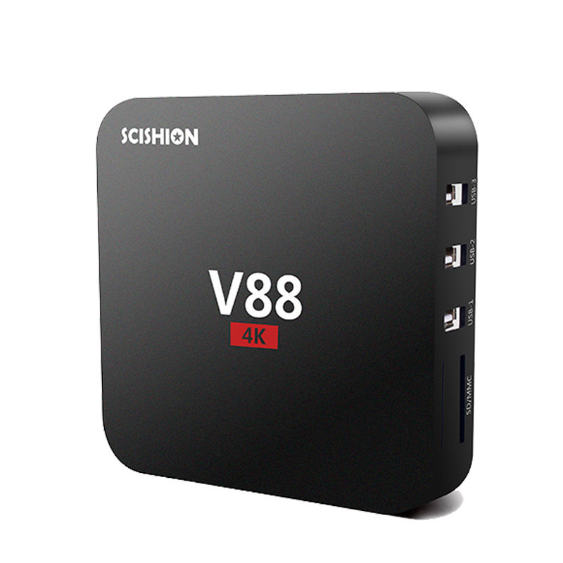 V88 4K Android 6 0 Smart TV Box Rockchip 3229 1G 8G 4 USB 4K 2