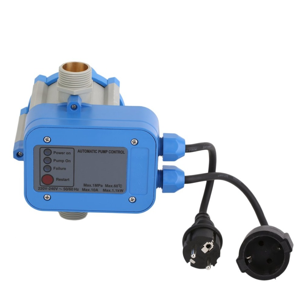 C50MIT Electronic Water Pump Automatic Pressure Control Switch Water Pump Pressure Controller With EU Plug&Cables automatic water pump pressure controller electronic switch control water shortage protection with plug socket wires mk wpps15
