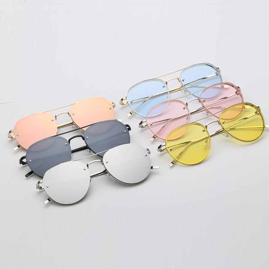 Superb Cycling Eyewear Women Sunglasses Metal Frame Sunglasses Brand Classic Tone Mirror Retro Sunglasses Transparent Spectacles