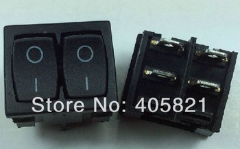 KCD5-211 4pins mini double control switch,double rocker switch