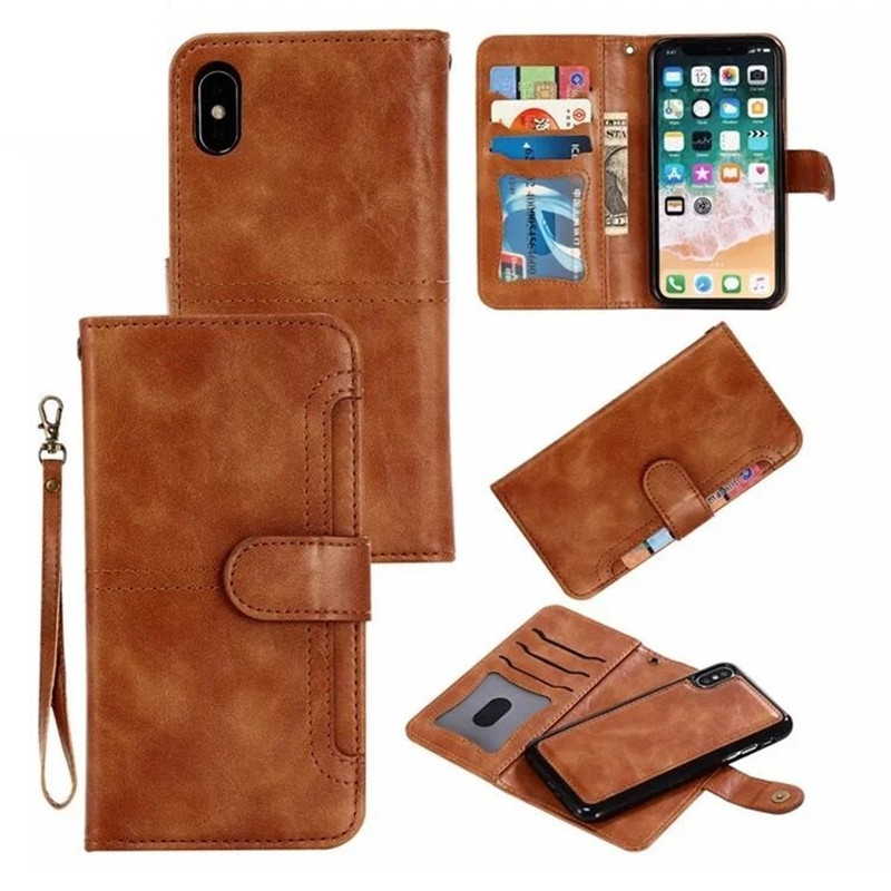 Magnet Removable Wallet Case For iPhone XR XS Max X PU Leather Case For iPhone 6 6s Plus 7 8 Plus X(10) Smart Phone Cases EEMIAMagnet Removable Wallet Case For iPhone XR XS Max X PU Leather Case For iPhone 6 6s Plus 7 8 Plus X(10) Smart Phone Cases EEMIA