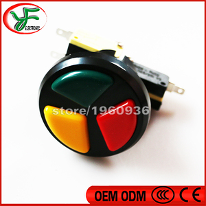 Image 2 - 10PCS Jamma Arcade 3 in 1 Round Push Button with high quality micro switch for arcade game machines Triple Colors