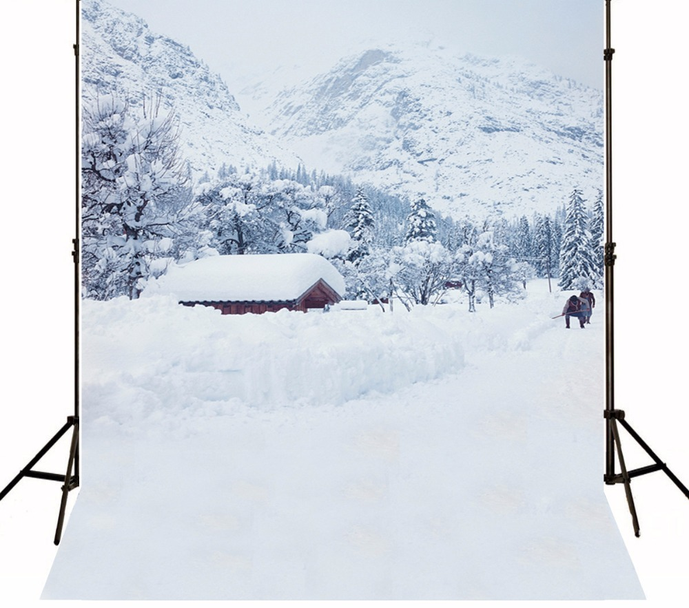 5*8ft snow  vinyl photo background christmas,fond de studio de photographie,christmas village houses photography backdrops 1829 free shipping 250g far from pretty tea raw tea