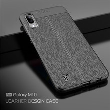 For Samsung Galaxy M10 Case Luxury Rubber Soft Silicone Phone Cover PU Fundas