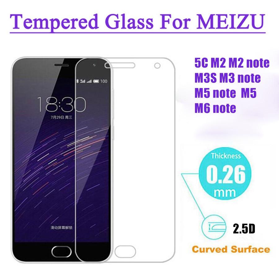 Для Meizu m5c стекло для Meizu M2 Note закаленное стекло для Meizu M2 M3 M5 M6 Примечание защита экрана m2 M5 5C M3s m 2 5 Glas фильмы