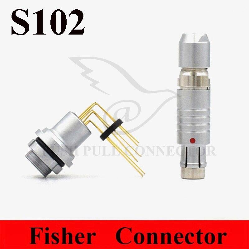 Fisher Connector 0F 102 Series FLG ELG 2 3 4 5 6 7 9 Pin Waterproof