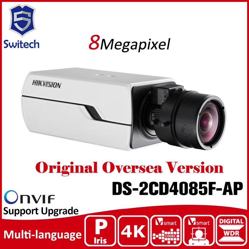 HIK  DS-2CD4085F-AP 8MP 4K Smart Box Camera H.264 PoE  Defog 3D DNR indoor CCTV Camera cd диск fleetwood mac rumours 2 cd