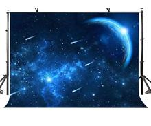 7x5ft Starry Sky Backdrop Blue Meteor Shower Photography Background and Studio Props