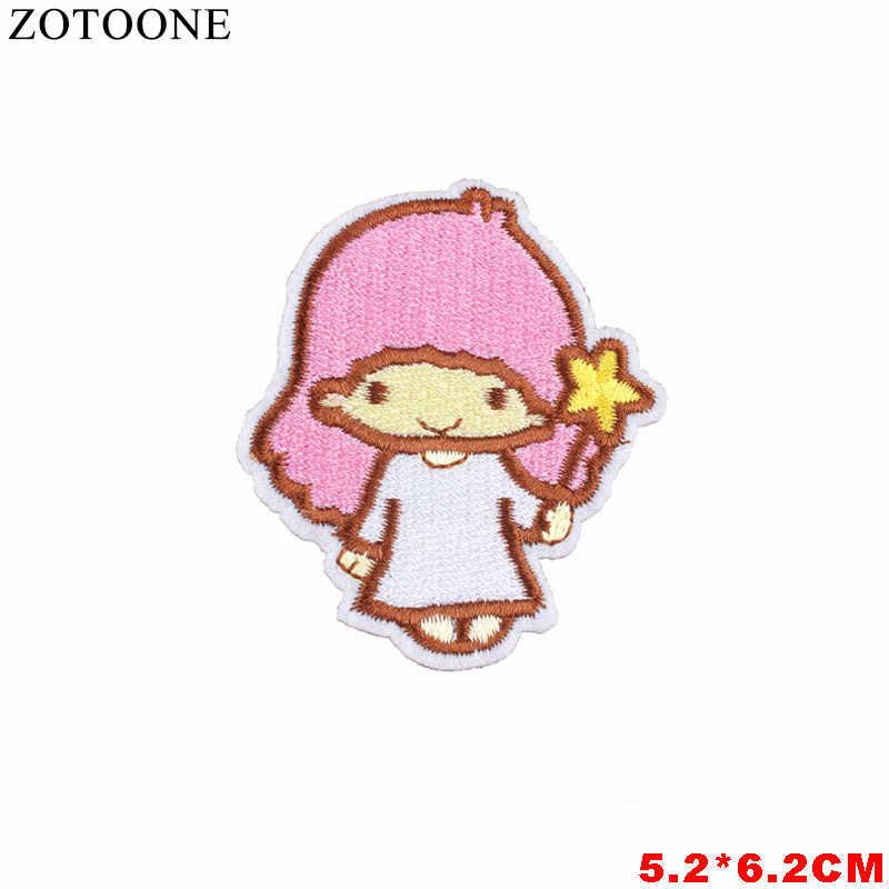 ZOTOONE ดอกไม้หัวใจอาหารการ์ตูน Patch เหล็กบนป้ายแพทช์ปัก Applique เย็บเสื้อผ้า Patch สติกเกอร์ B