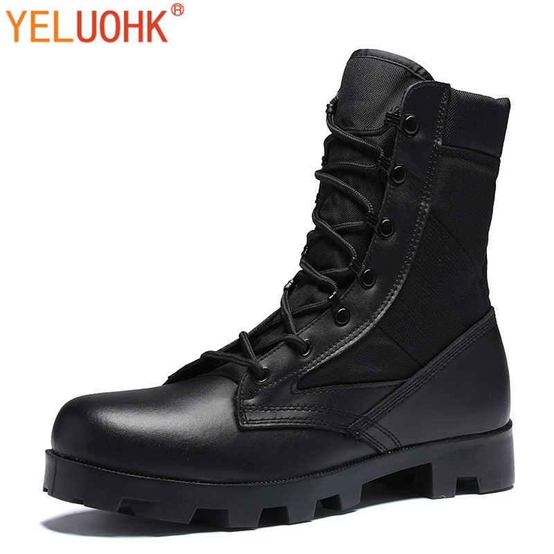 Military Boots Men Safety Shoes Winter Boots Men Army Winter Shoes Men Boots Black Beige
