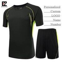 Personalizado logotipo y nombre y número, hombre adulto y niño pro Fútbol Jersey Sets, niño ropa de fútbol (camiseta + Pantalones cortos), capacitación y del partido
