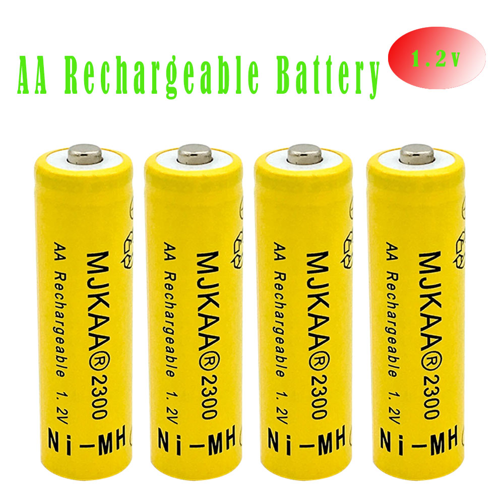 MJKAA 4pcs 1.2V Ni-MH AA 2300mAh Rechargeable Battery 2A Neutral Battery Rechargeable Ba ...