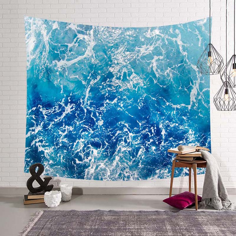 217229404d ... Waterfall Wall Tapestry Nature Wall Decor Night  Waterfall Tapestry  Lake Water Wall Hanging Blue Sky
