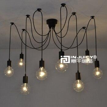 8 Lights Remote Control Edison Bar Club Pendant Lamp 110V or 220V Spider Cafe Coffe Shop Lighting
