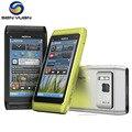 Оригинал Nokia N8 mobile phone 3 Г, WIFI, GPS 12MP 16 ГБ ROM разблокирована n8 сотовый телефон