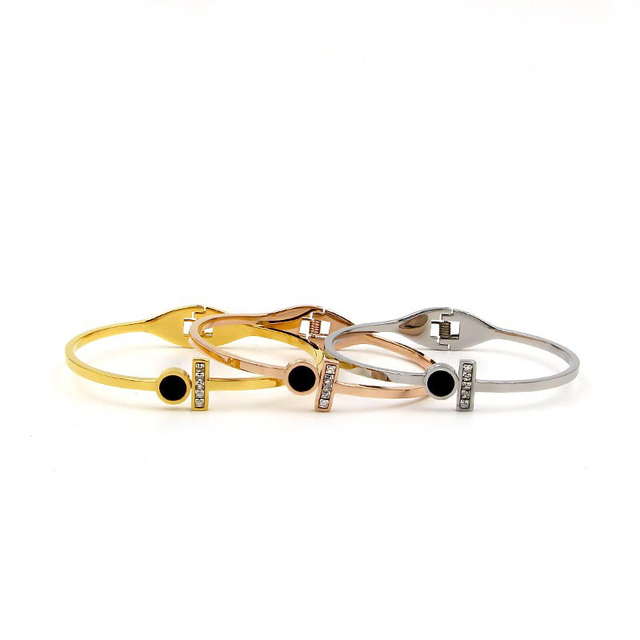 13efb7c5fb67 Moda titanium Acero inoxidable brazalete pulsera para las mujeres pulseras  y brazaletes marca sexo amor brazalete