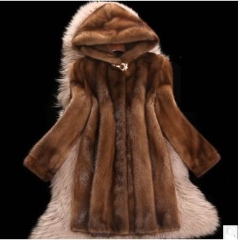 2019 Faux Mink Fur Coat Women Winter New Fake Fur Coats For Women Long Artificial Fur