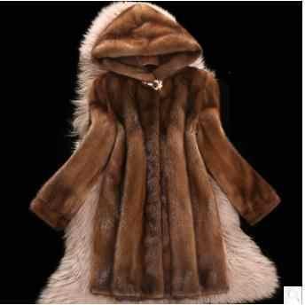 fa2ccede9a07 2019 Faux Mink Fur Coat Women Winter New Fake Fur Coats For Women Long  Artificial Fur