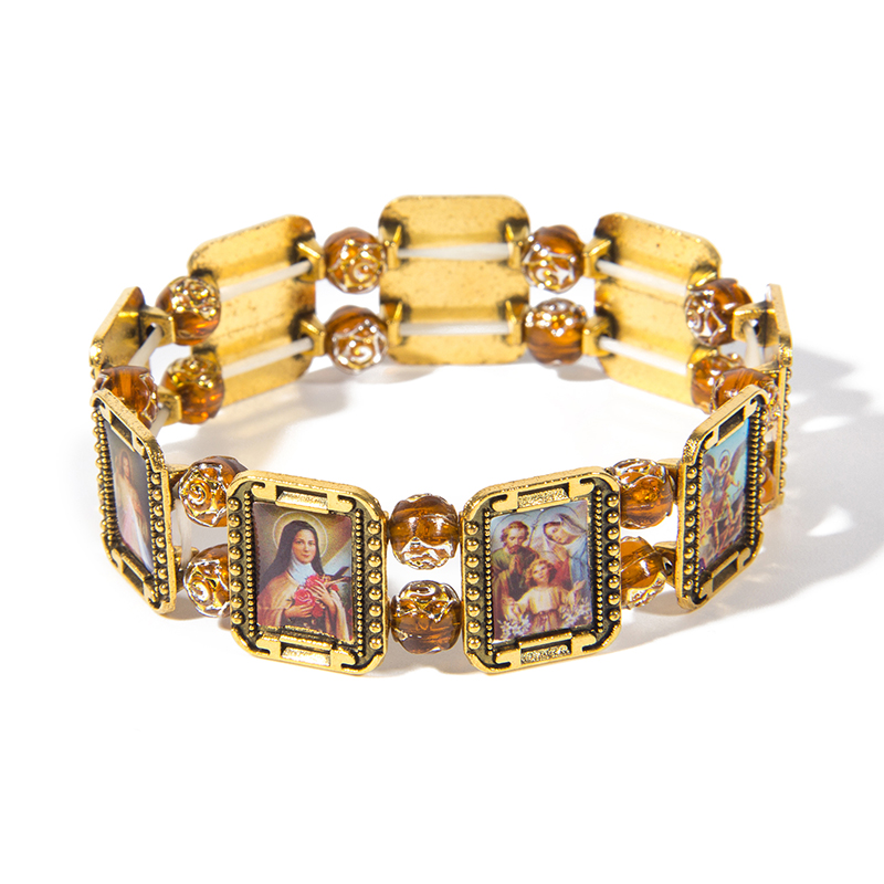 2018 new High - grade elastic alloy Jesus Holy Saints messiah Christian Religious who Bracelets, Holiday gifts