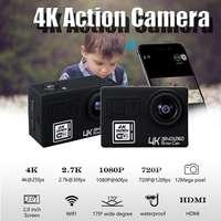 KINCO Action Camera Ultra HD 4K 30fps WiFi Underwater 30M Helmet Waterproof USB 2.0 HDMI LCD Cam Sport Video Camera