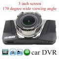 3 inch LCD screen Car DVR HD Car Camcorder Black Box DVR 170 Degree wide Viewing Angle Night Vision Dash Cam