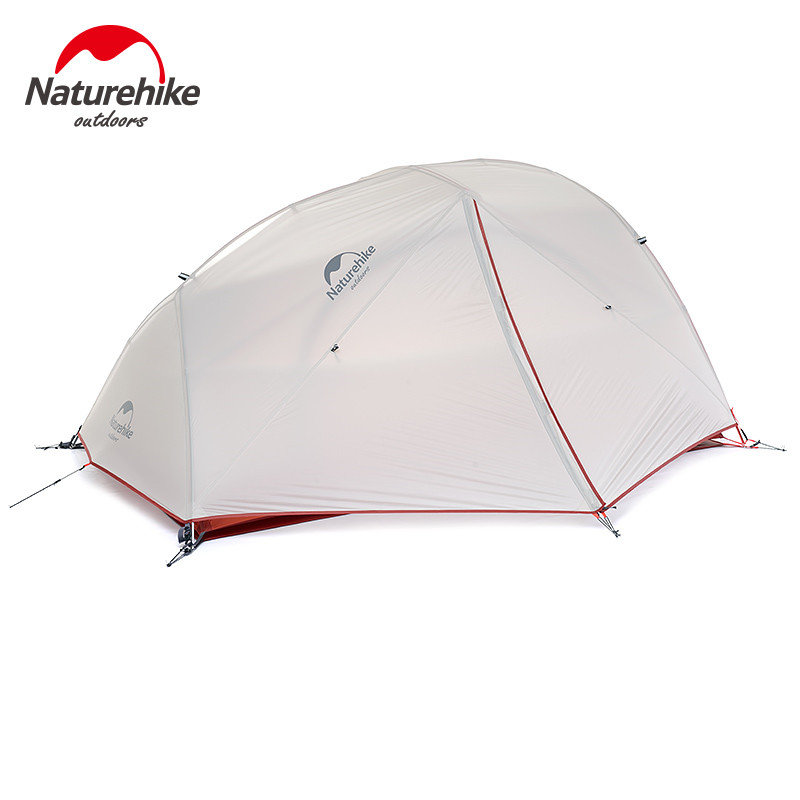 Naturehike 20D Silicone Waterproof Camping Tents Ultralight Outdoor Hiking Double Layer 2 Person 4 Season Tent With Free Mat naturehike ultralight 20d silicone coated 2 person double layer waterproof camping tent with snow skirt