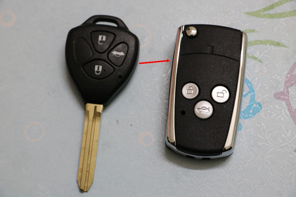 YNAVI New Free Shipping Car Key With 3 Buttons Fob Replacement Blank Cover Flip Folding Remote