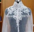 2016 White Wedding Veil Acessórios Do Casamento Jaqueta de Casamento Bolero Mulheres Strapless Personalizado