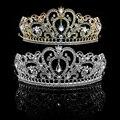 Свадебный Принцесса Женщины Горный Хрусталь Аксессуары Для Волос Свадебная Тиара Корону Оголовье Для партии