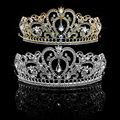 Bridal Princess Women Rhinestone Hair Accessories Tiara Wedding Crown Headband For party