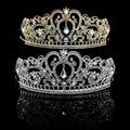 Nupcial Princesa Mujeres Del Pelo Del Rhinestone Accesorios Venda de La Corona Tiara de La Boda Para El partido