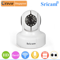 1.0MP H.264 Pan/Tilt ONVIF Visão Nocturna do IR HD 720 P câmera wi-fi wide angle mini cctv câmera sem fio P2P ip câmera de segurança da casa