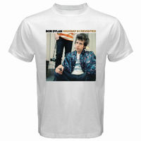 New Bob Dylan Highway 61 Revisited Rock Band Men S White T Shirt Size S To