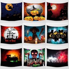 Hot sale custom  large halloween tapestries wall hanging tapestry home decoration size L 200*150cm M 150*130cm
