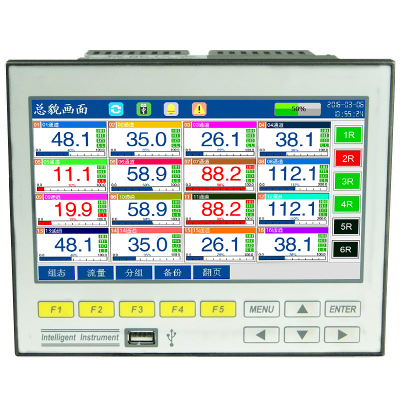 Temperatura Tensione di Corrente-Curva di Pressione Multicanale Dati di ECR7100 Registratore senza carta 4/6/8/12 /16 di Tipo ingleseTemperatura Tensione di Corrente-Curva di Pressione Multicanale Dati di ECR7100 Registratore senza carta 4/6/8/12 /16 di Tipo inglese