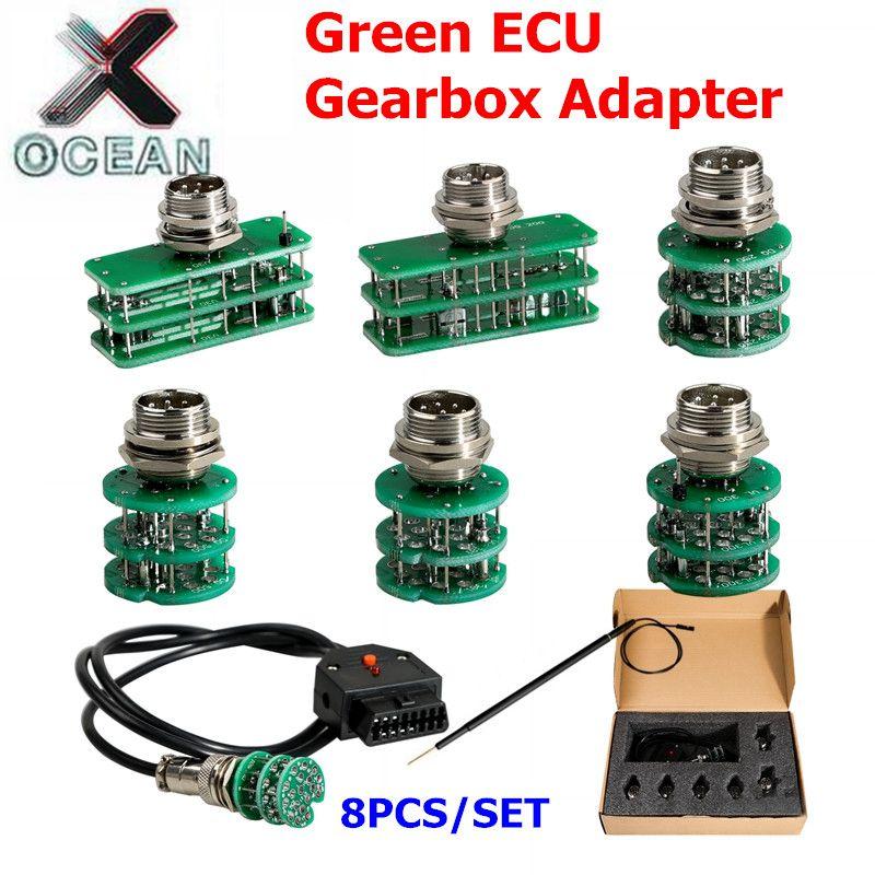 Adaptateurs de boîte de vitesses ECU vert KTM 8 pièces/ensemble adaptateurs complets programmeur ECU voiture outil de programmation ECU livraison gratuite