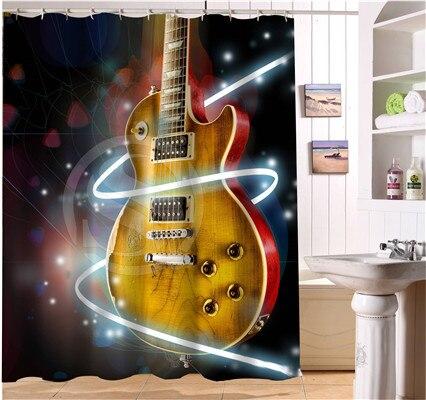 WJY425Y5 Custom All kinds of guitar Fabric Modern Shower Curtain bathroom beautiful XY5