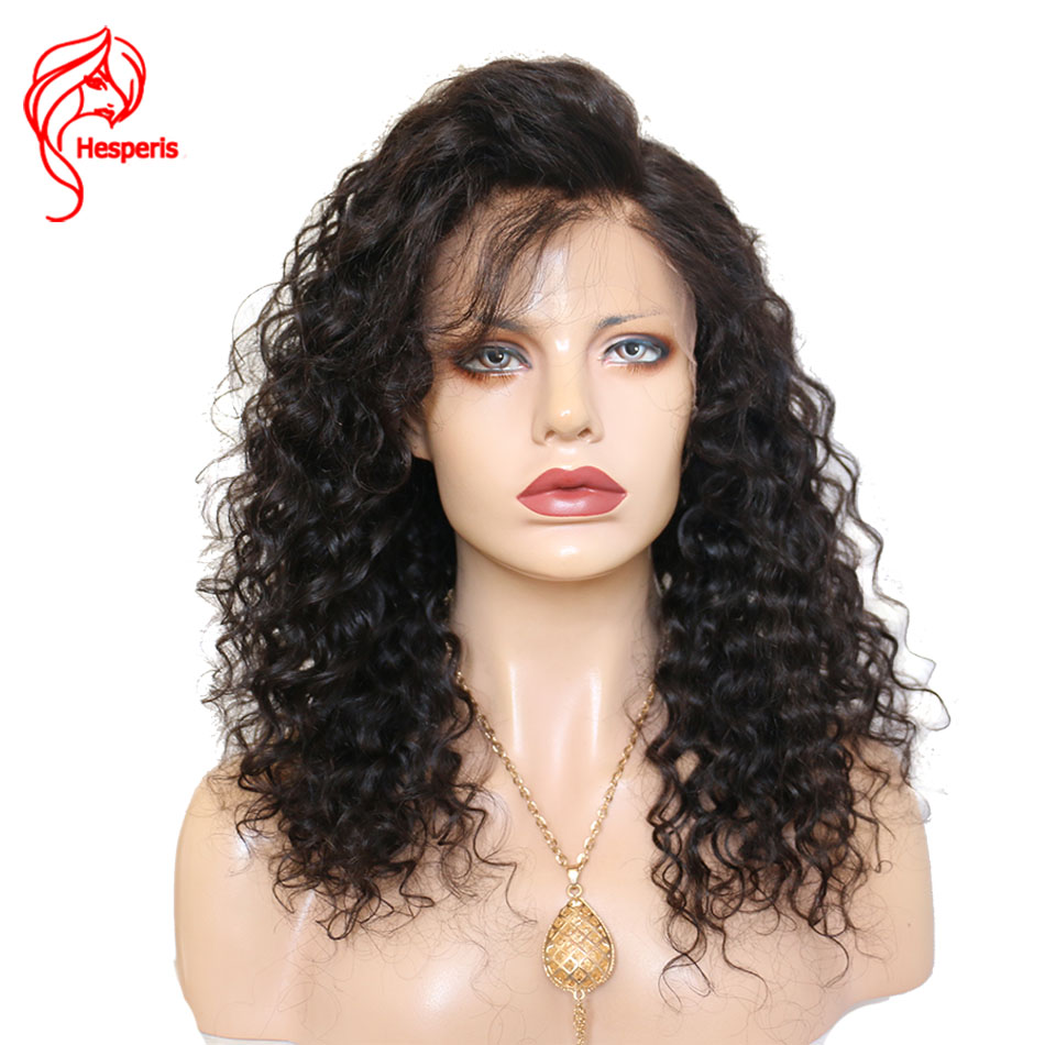 Hesperis Full Lace Human Hair Wigs Curly Brazilian Remy Hair Lace Wigs With Baby Hair Glueless Full Lace Wigs Pre-Plucked