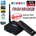 RKM MK902II Android 4.4 TV Box RK3288 Quad Core 2 GB 16G Mali-T764 3D Inteligente Mini PC XBMC Dual Bluetooth Wifi DLNA 4 K Google IPTV