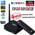 RKM MK902II RK3288 Android 4.4 Caixa De TV Quad Núcleo 2 GB 16G Mali-T764 3D Inteligente Mini PC XBMC Dual Bluetooth Wi-fi DLNA 4 K Google IPTV