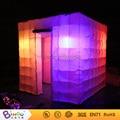 Envío gratis la Mejor calidad Portátil fotomatón inflable juguete carpa carpa cubo inflable con iluminación led