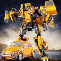 LS07 Transformation Model Movie KO Toys the Yellow Bee Car Robot MPM07 Masterpiece Action Figures Collection Toys Kids Gift