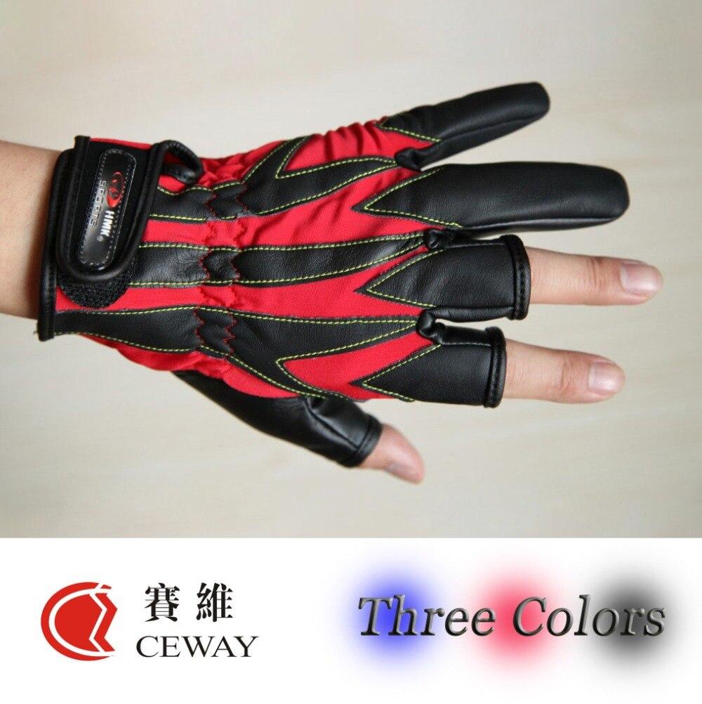 Fingerloser Fischen-im Freiensport-Handschuh bequemes PU drei - Angeln - Foto 1