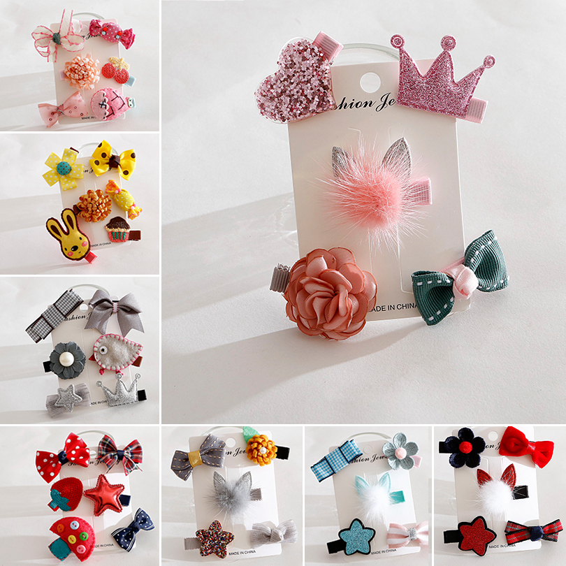 Winter New Dog Hair Barrettes Princess Pink Cute Cat Hair Bows Accessories For Small Medium Pet Animal Party Grooming  Yorkshire