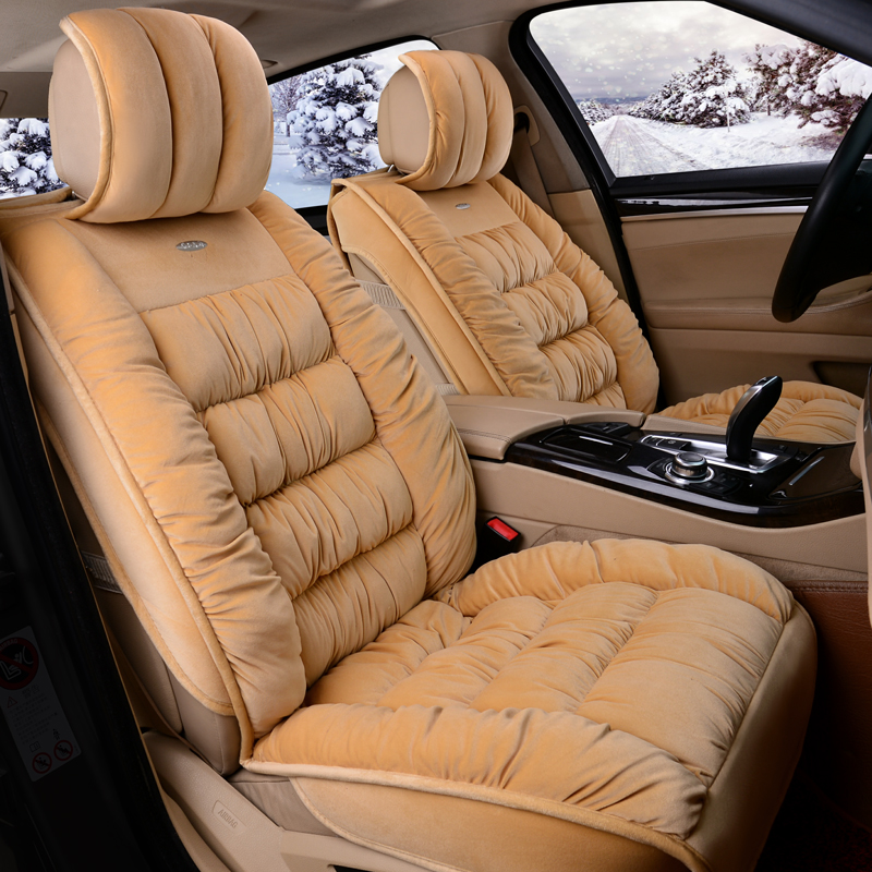 3D Fully Enclosed Short Plush Seat Cover Winter Seat Mats Cushion For Chevrolet Cruze Malibu Sonic Spark Trax Sail Captiva Epica 6d styling car seat cover set for chevrolet cruze malibu sonic spark trax sail captiva epica high fiber leather car styling