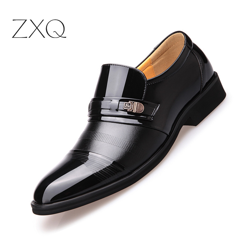 2018 Sommer Männer Slip Auf Männer Formale Schuhe Herren Mikrofaser Leder Qualität Schuhe Breathable Männer Schuhe Für Business